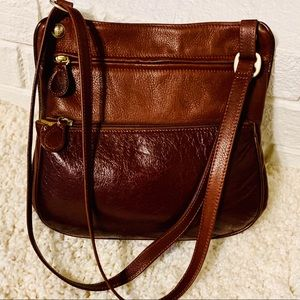 Osgoode Marley Two-Tone Brown Leather Crossbody